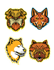 Terriers and Wolves Mascot Collection
