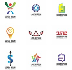 logo set design for company, brand, identity, and collection