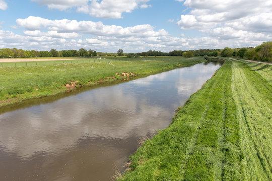 Fluss Hase in Niedersachsen, Deutschland