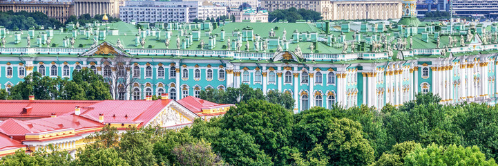 Wall Mural - Aerial panoramic view of the Hermitage, St Petersburg, Russia