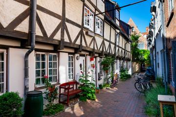 Lübeck Backyard Corridors Quarter Fototapete