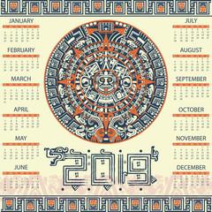 Aztec calendar 2019