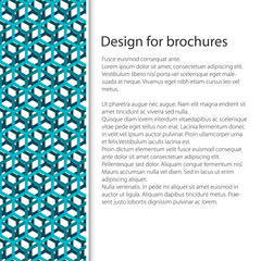 Cover Design with Seamless Pattern of Transparent Cube, Booklet Poster Flyer Brochure Design, Vector Illustration