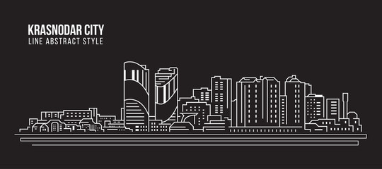Cityscape Building Line art Vector Illustration design - Krasnodar city