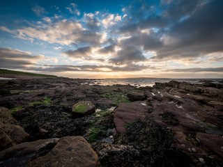 Sunset and the Scottish coastline