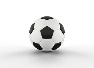 Realistic soccer ball or football ball on white background. 3d Style  Ball isolated on white background. 3d rendering