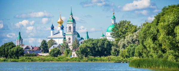 Lake Nero and monastery of St Jacob Savior, Rostov, Golden ring Russia