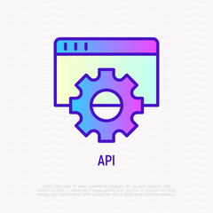 Modeling API thin line icon. Modern vector illustration.