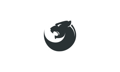 tiger head roaring logo vector