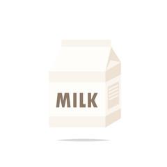Milk carton box vector isolated illustration