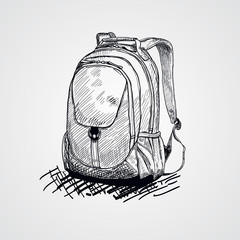 School bag.Vector illustration of school bag.Back to school