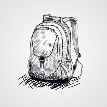 School bag.Vector illustration of school bag.Back to school