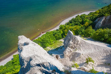 Kalkfelsen am Aussichtspunkt Victoriasicht bei Sassnitz auf der Insel Rügen