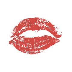 World kiss day. lips pomade imprint vector
