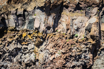wall of the crater of Vesuvius crater