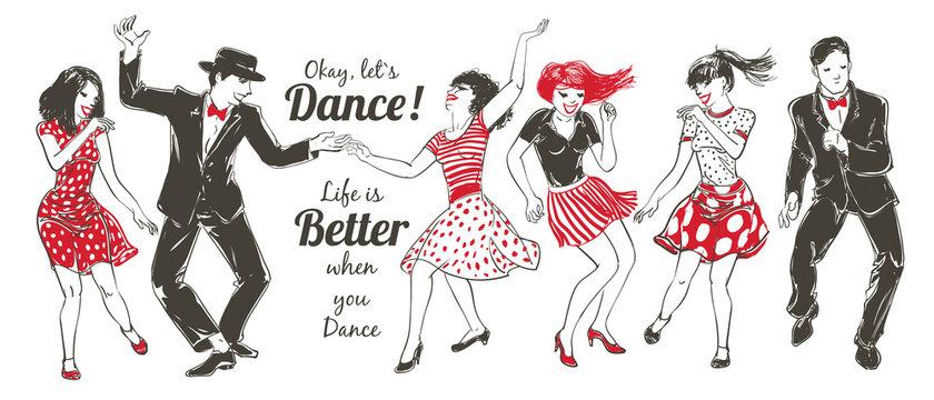 Dancing people Set