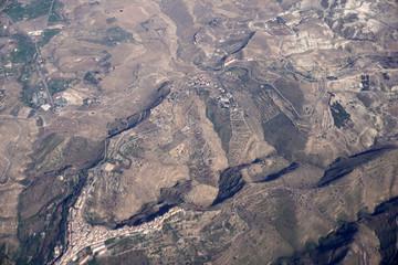 sicily catania etna volcano aerial view