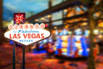 Foto op Plexiglas Las Vegas Famous Las Vegas sign