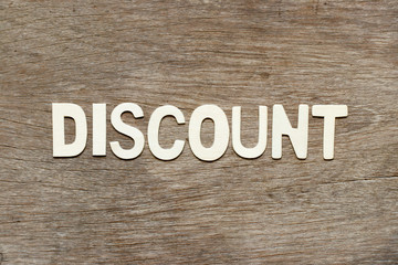 Alphabet letter in word discount on wood background