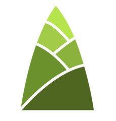 green bamboo shoot sign