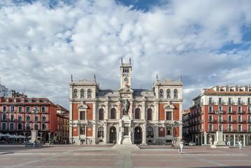 The Plaza Mayor y fachada del ayuntamiento de  Valladolid Wall mural