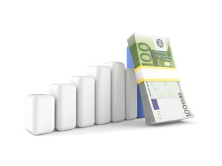 Euro currency with chart