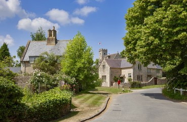 Swinbrook village, Cotswolds, Oxfordshire, England