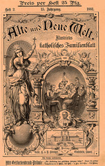 """Cover of  """"Alte und neue Welt""""  (old and new World) catholic magazine  from Switzerland dated 1881 in German language"""