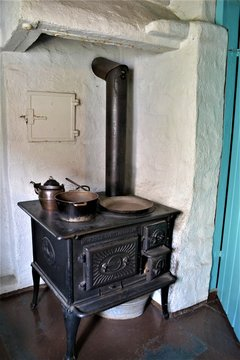 wood burning vintage oven in norwegian house