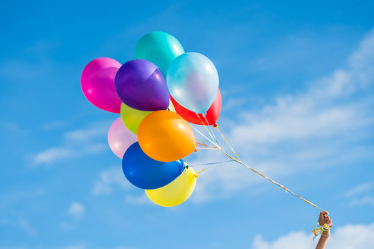 Colorful party balloon