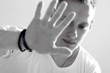 Man black and white photo