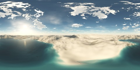Environment map. HDRI map. equidistant projection. Spherical panorama. landscape 3d rendering