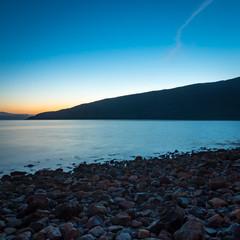 Dusk coastline, Scotland