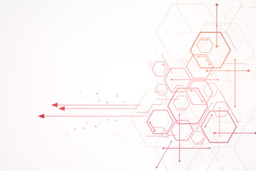 Abstract hexagon background , Technology colorful polygonal concept