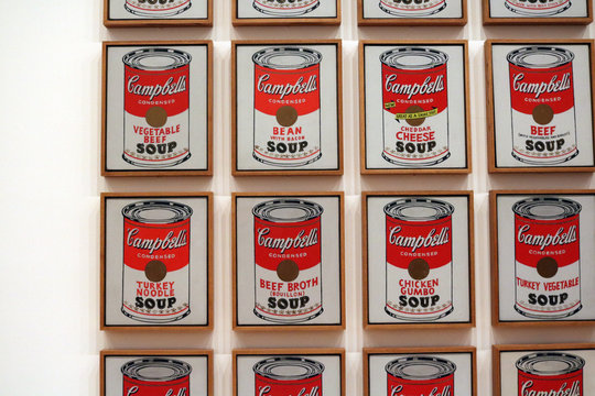 Campbell's soup cans Andy Warhol at The Museum of Modern Art , USA, New york, new york ,12/16/18