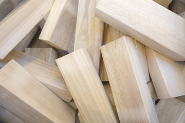 pile of wood peaces