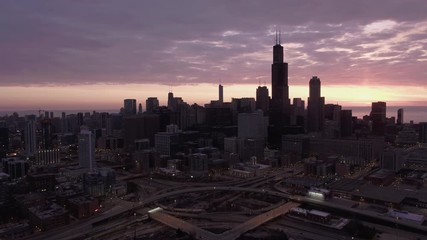 Fototapete - Chicago Drone Aerials All around