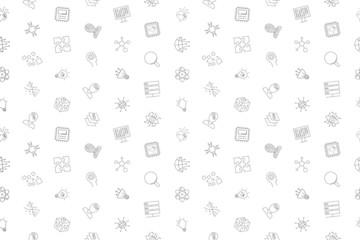 Vector Artificial Intteligence pattern. Artificial Intteligence seamless background