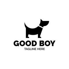 Good Boy Dog Vector Logo Template