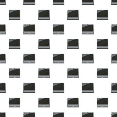 Laptop pattern seamless repeat in cartoon style vector illustration