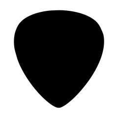 Guitar pick vector icon isolated on white background.