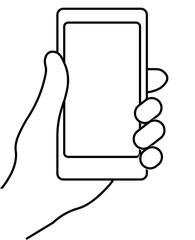 Hand holding smartphone. Social network, social media usage on mobile device. Concept for websites, web banner. Flat design vector illustration. EPS10