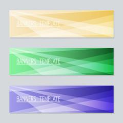 Vector banner for web design.