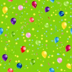 Green Happy Birthday pattern