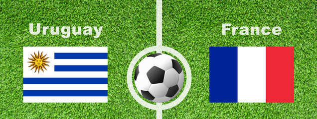 Fußball Viertelfinale - Uruguay gegen Frankreich