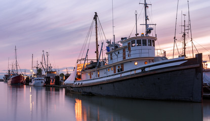 Old tugboat at Steveston Harbour in Richmond, British Columbia.