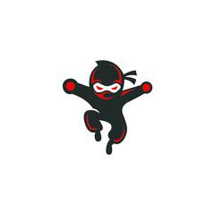 ninja illustration graphic vector modern template download