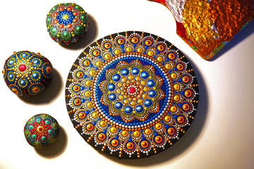 beautiful mandala painted