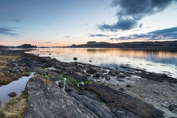 Sunset at Loch Linnhe in Scotland