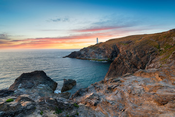 Wall Mural - Sunset over Trevose Head in Cornwall